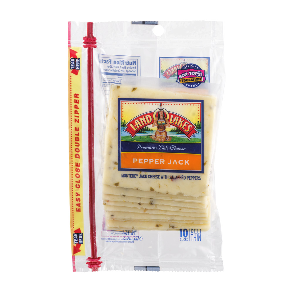 Land O'Lakes Pepper Jack Cheese Slices - 10 CT
