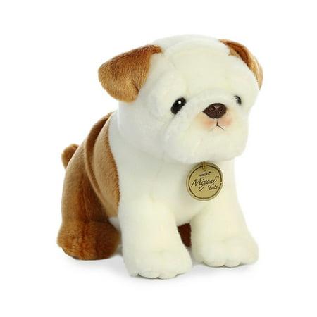 - Bulldog Pup Miyoni Tots 10 Inch - Stuffed Animal by Aurora Plush (26337)