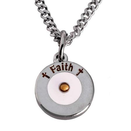 Round Faith Mustard Seed Necklace