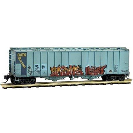 - Micro-Trains MTL N-Scale 50ft Airslide Hopper GACX Weathered/Graffiti #48567