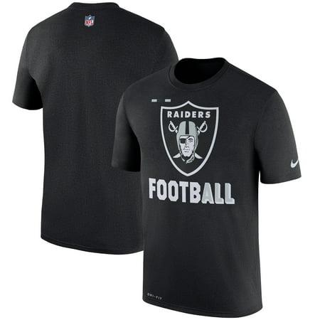 Oakland Raiders Nike Sideline Legend Football Performance T-Shirt - Black