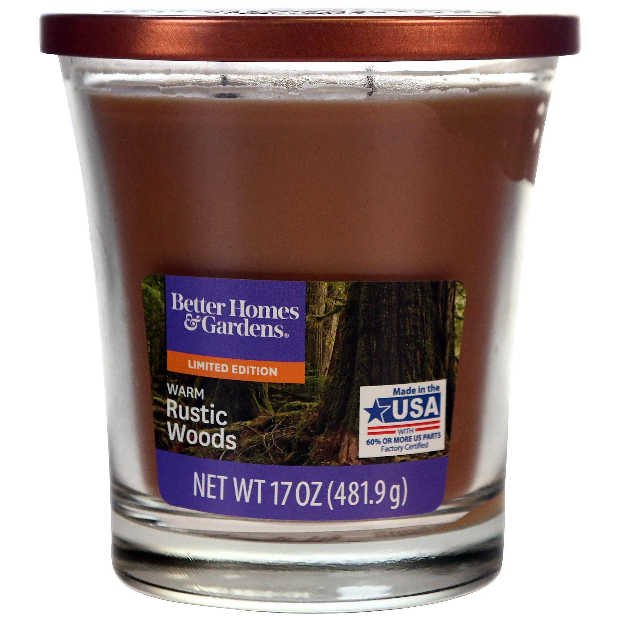 Better Homes&gardens Bhg 17oz Warm Rustic Wood Copper Lid Jar