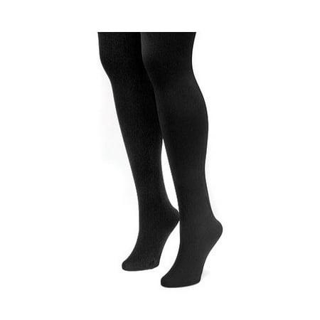 063a3eb7e438a Muk Luks - MUK LUKS Women's Fleece Lined 2-Pair Pack Tights - Walmart.com