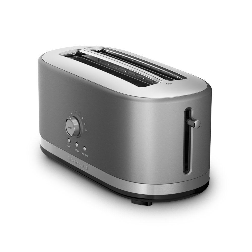 KitchenAid RRKMT4116CU 4 Slice Long Slot Toaster with High Lift Lever, Contour Silver (CERTIFIED REFURBISHED)