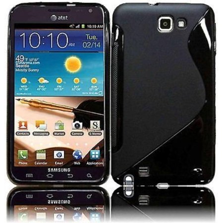Black S-SHAPE Soft TPU Gel Case Cover for Samsung Galaxy Note LTE SGH-i717 AT&T, Protect your phone with style through this sleek case. Provides ultimate protection.., By