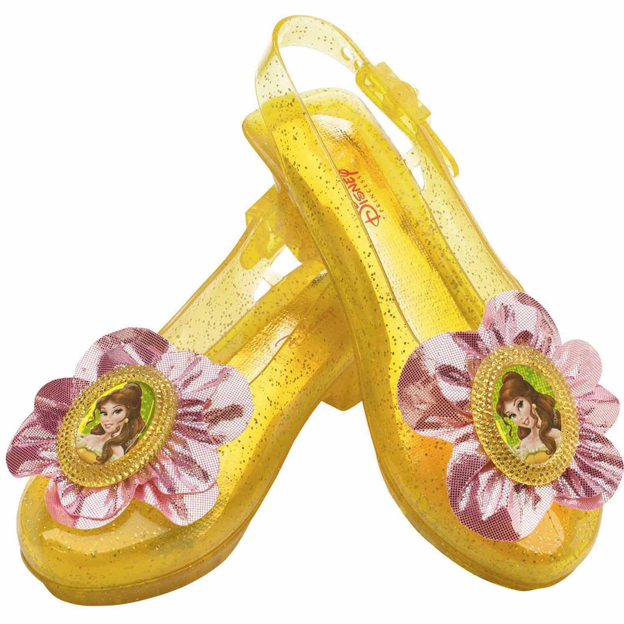 7bf250f8ae1 Disney Belle Sparkle Shoes Child Halloween Costume Accessory - Walmart.com