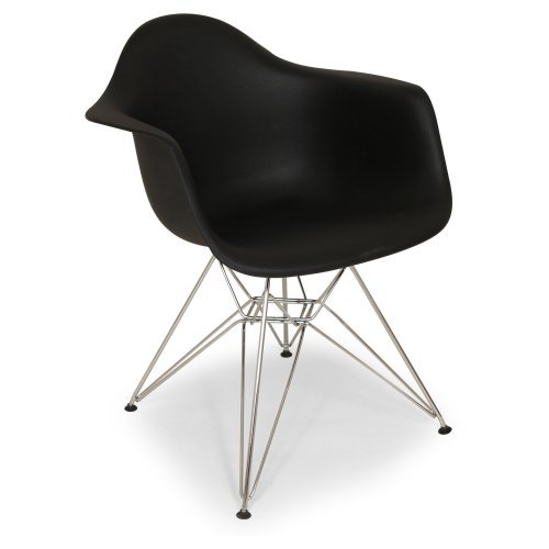 Mid-Century Eiffel Dining Armchair Black by Stilnovo
