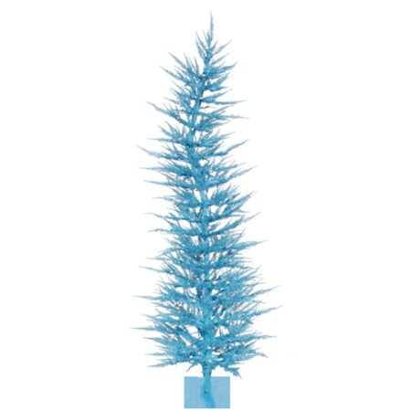 4 Pre Lit Sparkling Whimsical Sky Blue Artificial Christmas Tree Clear Lights