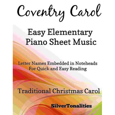 Coventry Carol Easy Elementary Piano Sheet Music - eBook