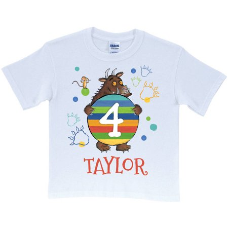 Personalized The Gruffalo Birthday Age Toddler White T Shirt