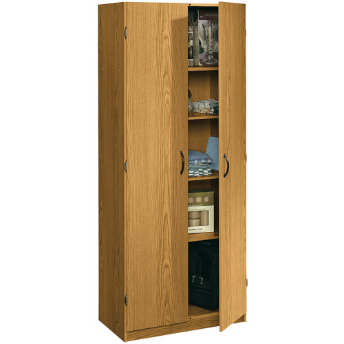 Sauder Beginnings Storage Cabinet, Oregon Oak - Walmart.com