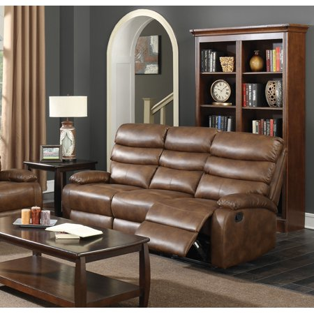 Acme Mingus Reclining Sofa In Coffee Faux Leather