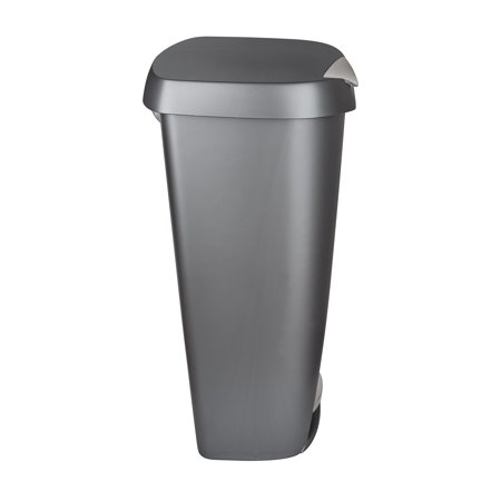 Umbra Brim 13 Gallon (50L) Kitchen Trash Can with Lid, Nickel