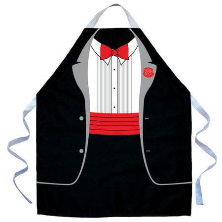 - LA Imprints Aprons For Kids Boys - Tuxedo