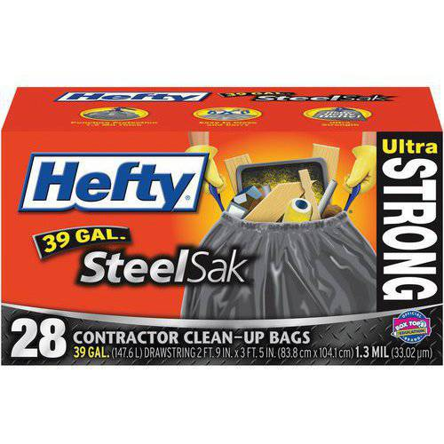 Hefty 39-Gallon Steel Sak, 28-Count