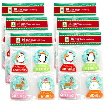 Paper Magic Group Set of 96 Assorted Small Christmas Holiday Gift Tags & String Ties 4 Unique Styles](Small Halloween Gift Tags)