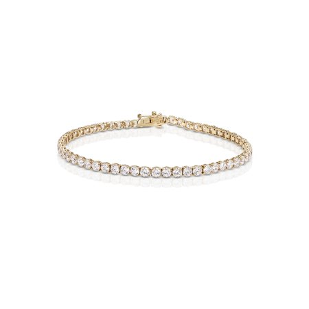 Round Cubic Zirconia Tennis Bracelet made with Zirconia from