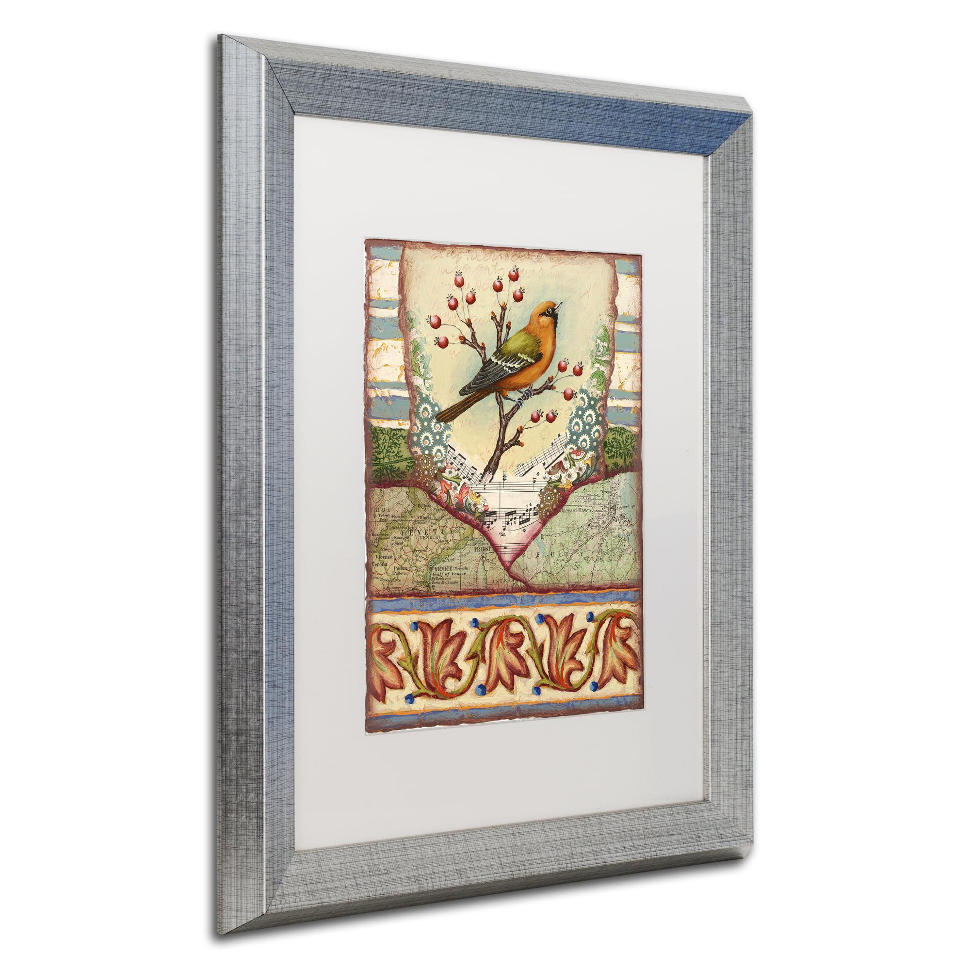 Trademark Fine Art Tisbury Bird Silver Framed Art By Rachel Paxton Walmart Com Walmart Com