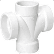 DWV PVC Double Sanitary Tee 4 In.