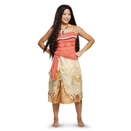 Moana Deluxe Adult Halloween Costume - Cheap Halloween Couples Costumes For Adults