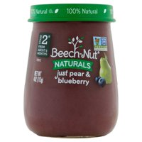 (Pack of 10) Beech-Nut Naturals Stage 2 Baby Food, Just Pear & Blueberry, 4.0 oz