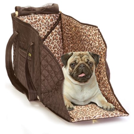 Dog Pet Carrier, Portable Modern Brown Lightweight Small Puppy Pet Carrier Tote