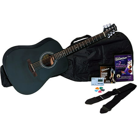 - Silvertone SD10 Complete Acoustic Guitar Package - Black