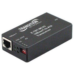 Transition Networks Ethernet To AUI Converter – 1 x RJ-45 , 1 x DB-15 VGA – 10Base-T, 10Base-5