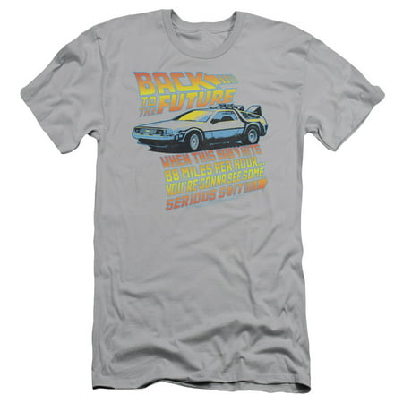 Back To The Future Science Fiction Comedy Movie 88 Mph Adult Slim T-Shirt Tee