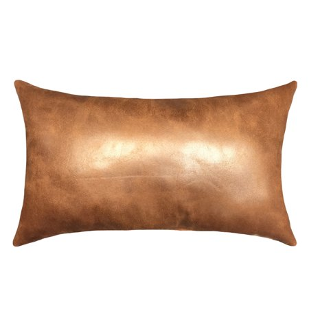 "Mainstays Faux Leather Decorative Throw Pillow, 15"" x 24"""
