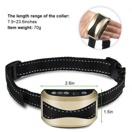 Yosoo Collier électrique système de formation de collier de barking chien inoffensif de choc Rechargeable pour chien de barking silencieux réglable dispositif anti aboiement anti collier anti - image 2 de 8