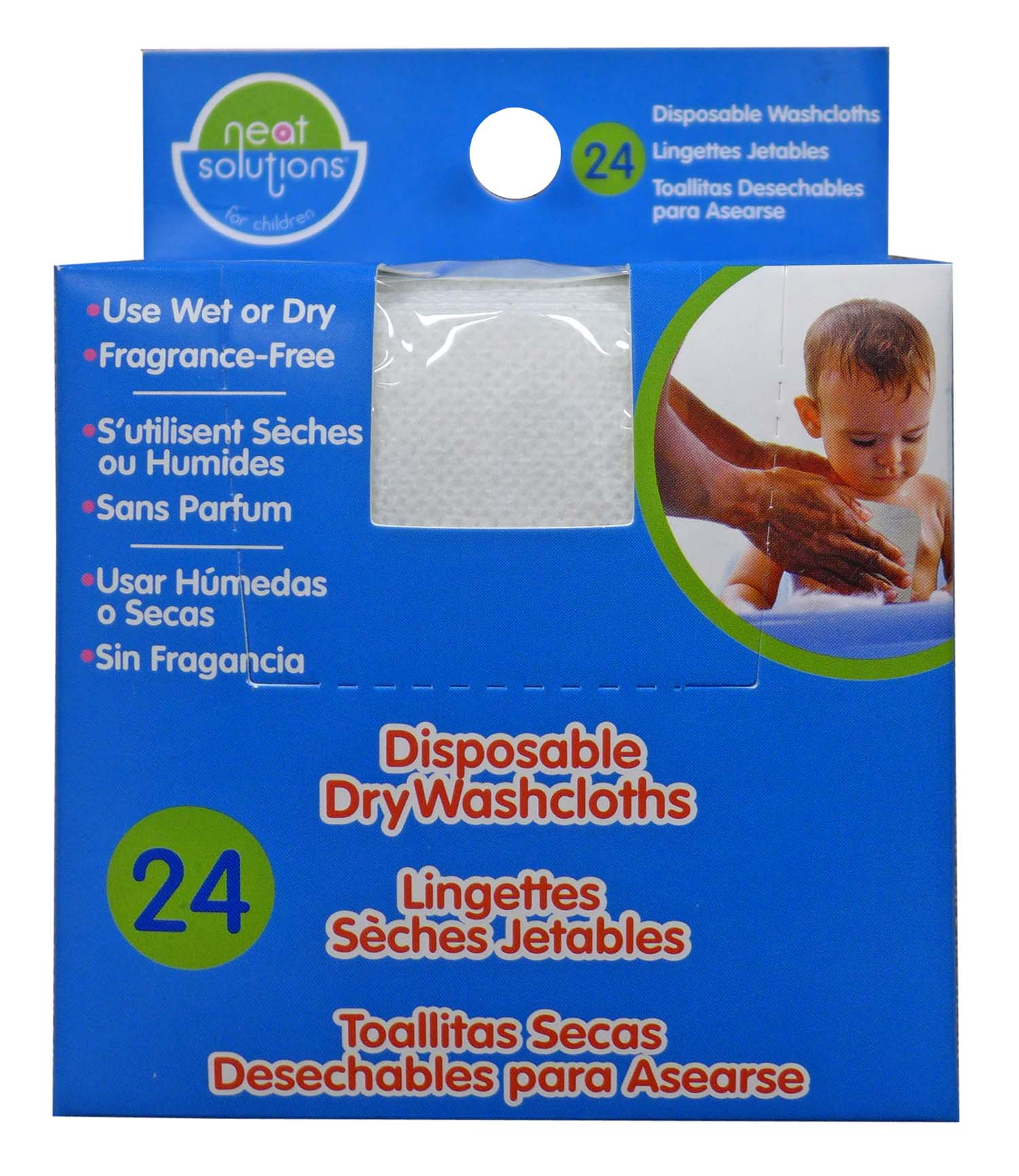 Neat Solutions Disposable Washcloths, 24 Pack by Neat Solutions