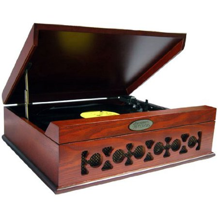 Pyle Vintage Style Phonograph/turntable With Usb-to-pc Connection [mahogany] - Belt Drive - Automatic - 72, 45, 33.33 Rpm - Mahogany (pvntt6umr)