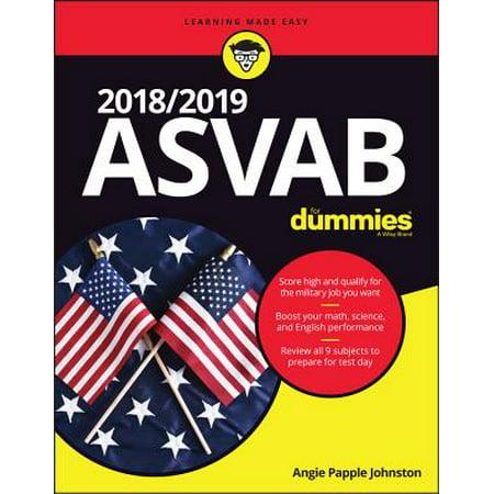 2018 / 2019 ASVAB For Dummies - eBook - Test Dummy Costume