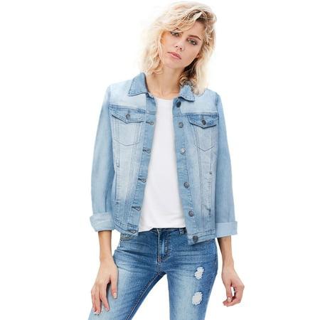REVOLT Women Junior classic 4 Pockets Denim Jacket