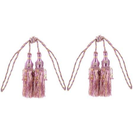 Curtain Drapery Hanging Beads Tassel Tiebacks 2Pcs - image 3 de 3