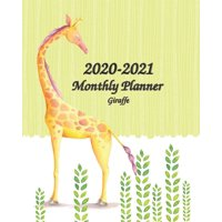 "2020-2021 Giraffe Monthly Planner: 8""x10"" - 2 Year Planner Holidays - 60-Month Planner Calendar - See it Bigger and Plan Ahead Goal and Productivity Planner - Action Plan, Time Management, Self-Improv"