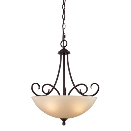 Chatham 3 Light Large Pendant In Oil Rubbed (Chatham One Light Pendant)