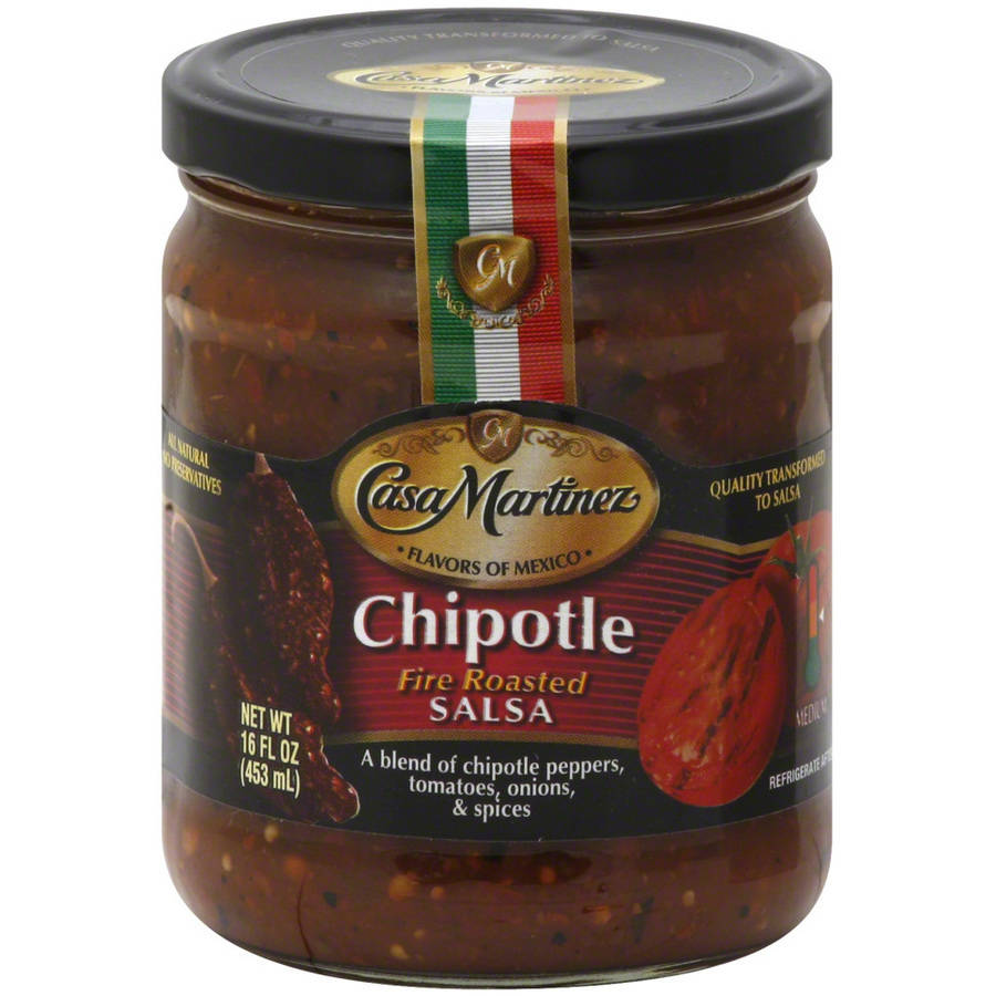 Casa Martinez Chipotle Fire Roasted Salsa, 16 fl oz, (Pack of 6) by
