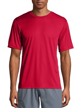 Hanes Sport Men's and Big Men's Short Sleeve Cool Dri Performance Tee (50+ UPF), Up to Size 3XL