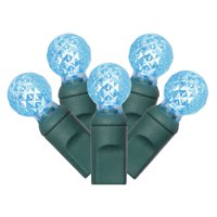 Vickerman Teal LED G12 Berry Single Mold String Lights, 50 Count