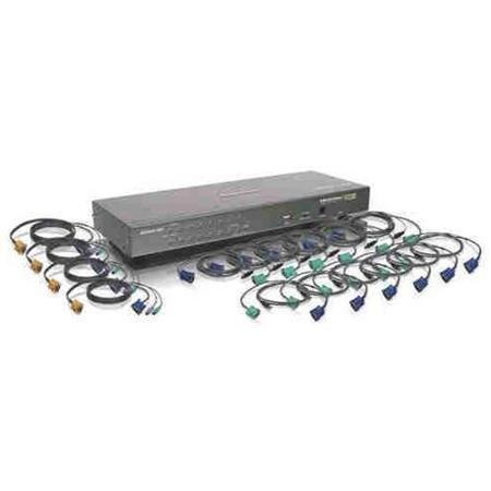 Iogear 16-port Usb Ps/2 Combo Kvm Switch With Usb Kvm Cables - 16 Computer[s] - 1 Local User[s] - 1 X Usb - Rack-mountable (gcs1716kitutaa)