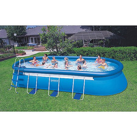 intex 20 39 x 12 39 x 48 oval frame easy set swimming pool. Black Bedroom Furniture Sets. Home Design Ideas