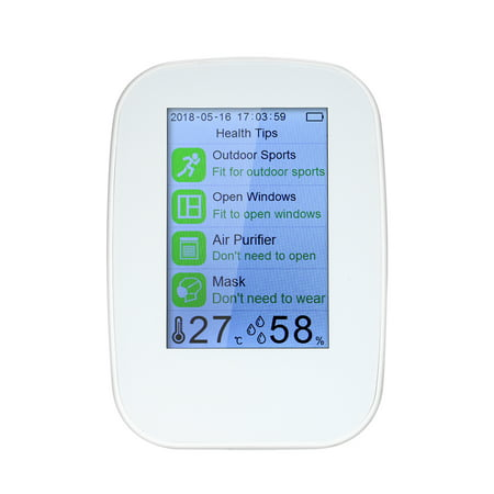 Portable Air Quality Detector Indoor/Outdoor Digital PM2.5 Formaldehyde Gas Monitor LCD HCHO & TVOC Tester Instrument Meter Air Analyzers with Rechargeable Battery 5 Gas Emissions Analyzer