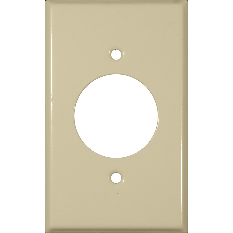 Stainless Steel Metal Wall Plates 1 Gang Hole 1.620 Single Receptacle Ivory
