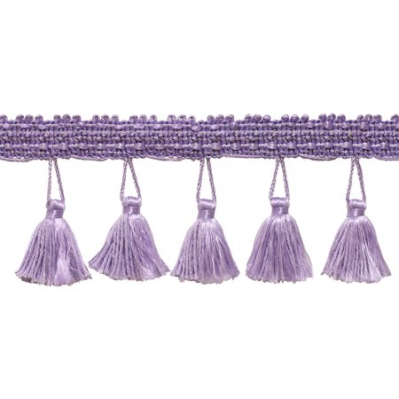 - 2.5 Inch Tassel Fringe Trim, Style# ETF Color: LILAC - D7,  Sold By the Yard