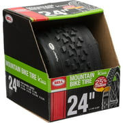 """Bell Sports Traction Mountain Bike Tire with Kevlar, 24"""" x 1.75-2.125"""", Black"""