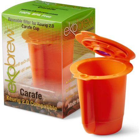 ekobrew 2.0 k cup reusable coffee filter, orange carafe reusable ...