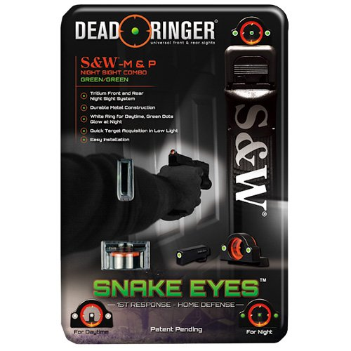 Dead Ringer Snake Eyes Combo Sight Smith and Wesson M&P, Green Front and Rear