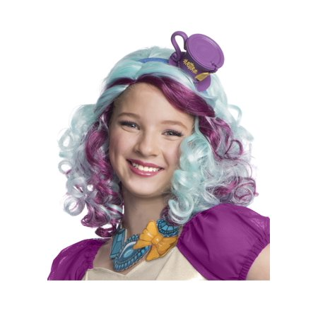 Madeline Hatter Wig with Headpiece - Teal Wig